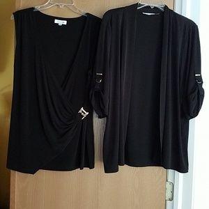 Top and cardigan set
